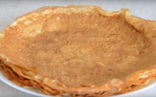 Рецепт млинців з висівками