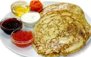 Рецепт сибірських млинців
