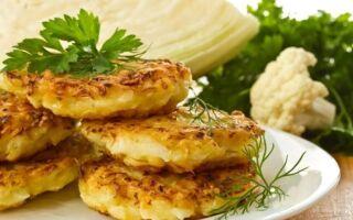 Рецепт капустяних оладок