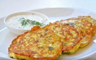 Рецепт картопляних оладок с сиром
