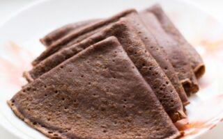 Рецепт шоколадних млинців