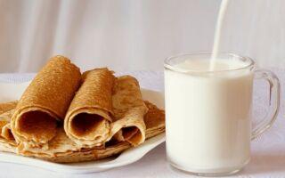 Рецепт млинців на одну склянку молока і два яйця