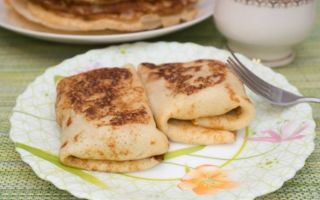 Рецепт млинців з пряженим молоком