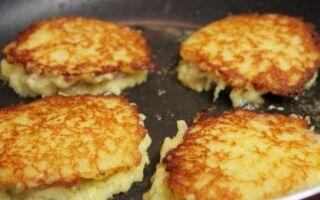 Рецепт картопляних оладок з фаршем