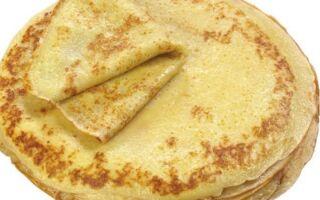 Рецепт цукрових млинців з маслом