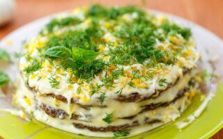 Млинцевий торт з печіночною начинкою