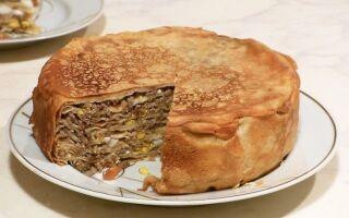 Рецепт млинцевого пирога