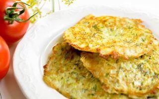 Рецепт оладок із кабачків та картоплі