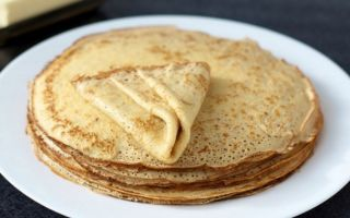 Рецепт молочних млинців на основі млинцевого борошна
