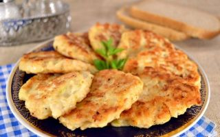 Рецепт курячих оладок із твердим сиром