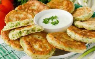 Рецепт оладок на кефірі із зеленою цибулею