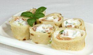 Рецепт млинців з лососем