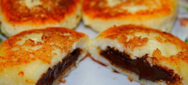 Рецепт сирників з шоколадом