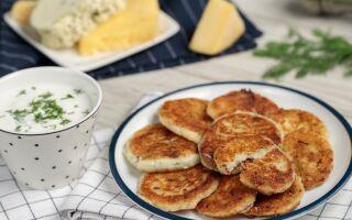 Рецепт оладок із сиром