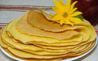 Рецепт кукурудзяних млинців
