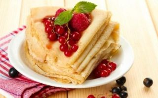 Рецепт ванільних млинців