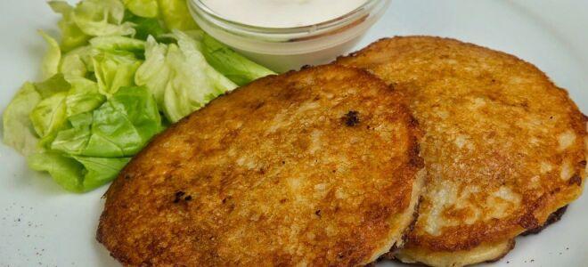Рецепт картопляних оладок з м'ясом