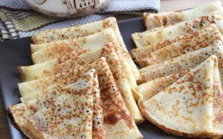 Рецепт млинців із застосуванням рисової муки