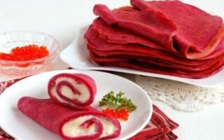 Рецепт червоних млинців