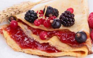 Рецепт млинців з варенням