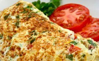 Рецепт капустяного омлету