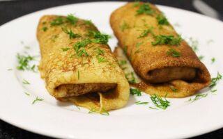 Рецепт млинців з куркою і сиром