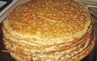 Рецепт млинців на заквасці